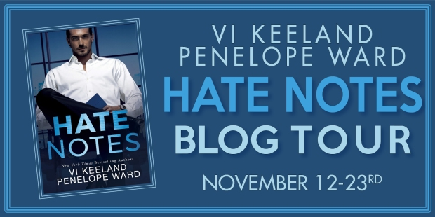Hate Notes Blog Tour Banner